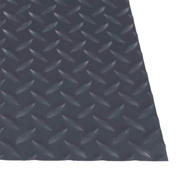 """Cactus Mat 1054R-E375 Cushion Diamond-Dekplate 3' x 75' Gray Anti-Fatigue Mat Roll - 9/16"""" Thick"""