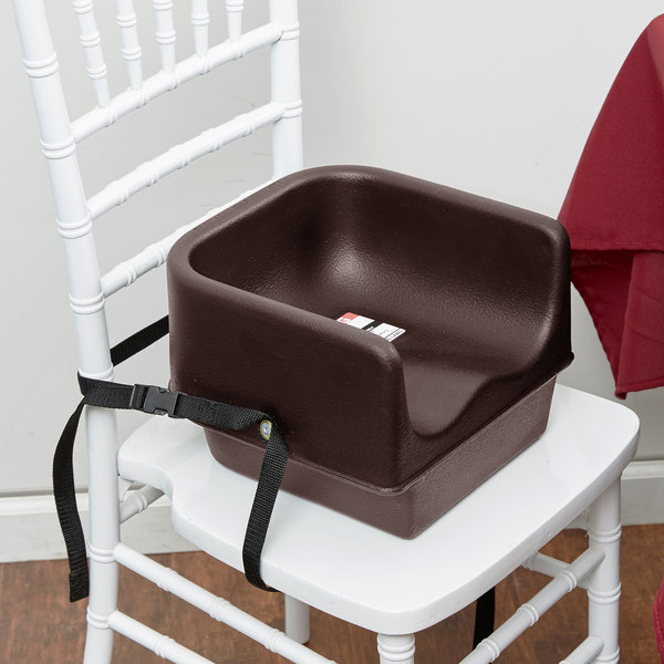 Cambro 100BCS131 Brown Plastic Booster Seat - Single Seat with Strap