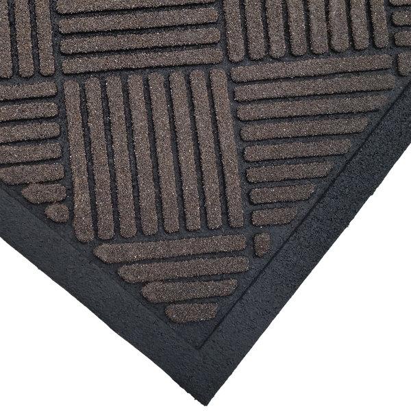"Cactus Mat 1509M-B35 Enviro-Scrape 3' x 5' Chestnut Brown Carpet Mat - 3/8"" Thick"