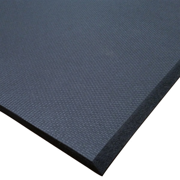 "Cactus Mat 2200F-C3 Cloud-Runner 3' Wide Black Grease-Proof Rubber Runner Mat - 3/4"" Thick"