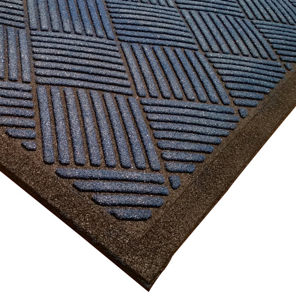 "Cactus Mat 1509M-U35 Enviro-Scrape 3' x 5' Midnight Blue Carpet Mat - 3/8"" Thick"