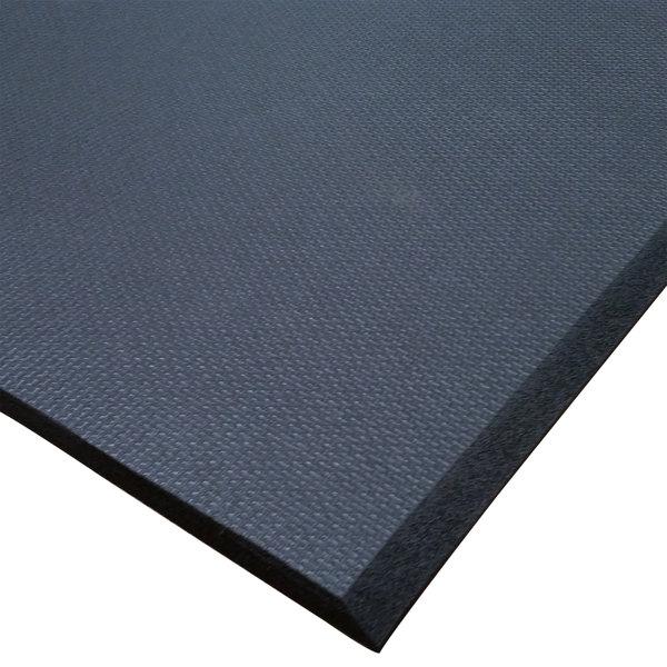 "Cactus Mat 2200R-C3 Cloud-Runner 3' x 75' Black Grease-Proof Rubber Runner Mat Roll - 3/4"" Thick"