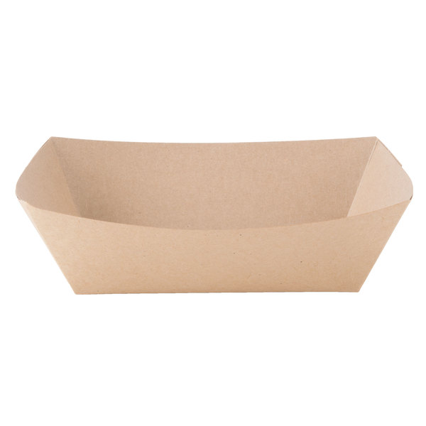 Southern Champion 525 #300 3 lb. Natural Kraft Eco-Print Paper Food Tray  - 500/Case