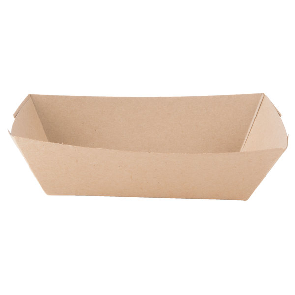 Southern Champion 517 #200 2 lb. Natural Kraft Eco-Print Paper Food Tray - 1000/Case