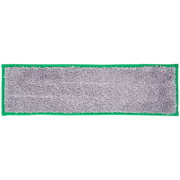 """Unger DD400 SmartColor Green Dry / Damp 13.0 Mop Pad - 19 1/2"""""""