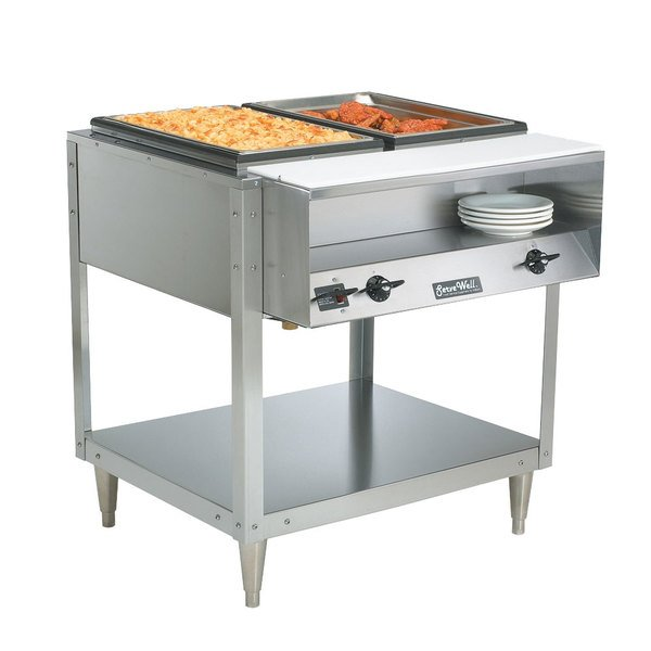 Vollrath 38116 Servewell Electric Two Pan Hot Food Table