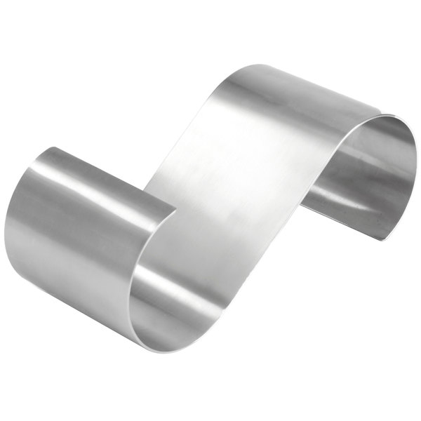 """American Metalcraft SSR10 10"""" x 4"""" x 3 1/4"""" Satin Stainless Steel S-Shaped Riser"""
