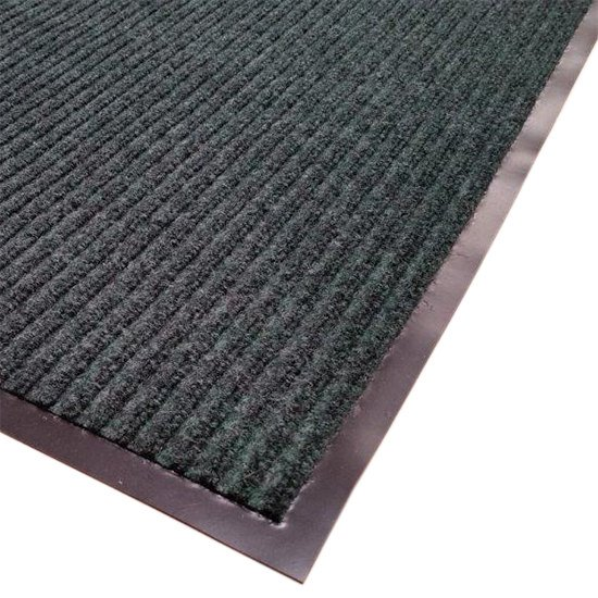"Cactus Mat 1485M-G31 3' x 10' Green Needle Rib Carpet Mat - 3/8"" Thick Main Image 1"