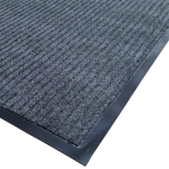 """Cactus Mat 1485M-E31 3' x 10' Gray Needle Rib Carpet Mat - 3/8"""" Thick"""