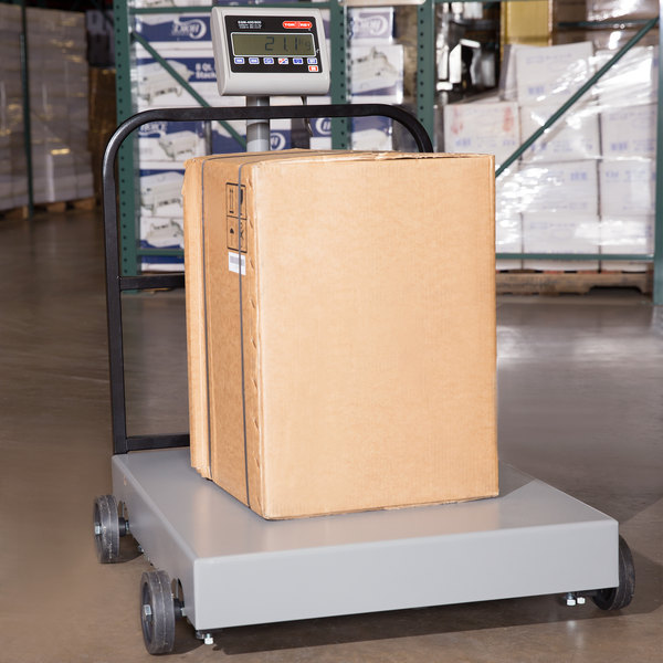 Tor Rey EQM-400/800 800 lb. Digital Receiving Bench Scale with Tower Display, Legal for Trade Main Image 13