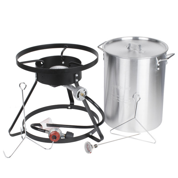 The Backyard Pro 30 qt. turkey fryer kit comes with everything you need to  fry up a large turkey! - Backyard Pro Weekend Series 30 Qt. Turkey Fryer Kit With Aluminum