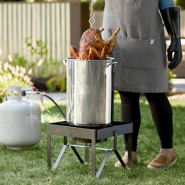 Backyard Pro Weekend Series BP16-SSKIT Weekend Series 30 Qt. Turkey Fryer Kit with Stainless Steel Stock Pot and Accessories - 55,000 BTU Main Image 2