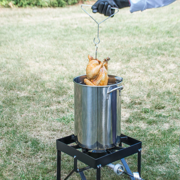 Backyard Pro Weekend Series 30 Qt. Turkey Fryer Kit with Stainless Steel  Stock Pot and Accessories ... - Backyard Pro Weekend Series 30 Qt. Turkey Fryer Kit With Stainless