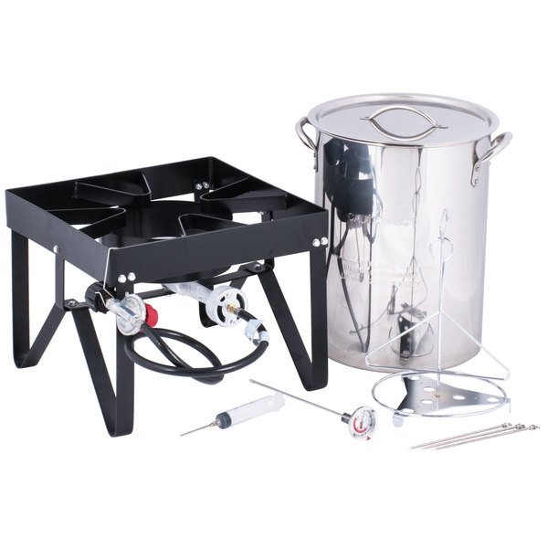 The Backyard Pro 30 qt. turkey fryer kit comes with everything you need to  fry up a large turkey! - Backyard Pro Weekend Series 30 Qt. Turkey Fryer Kit With Stainless