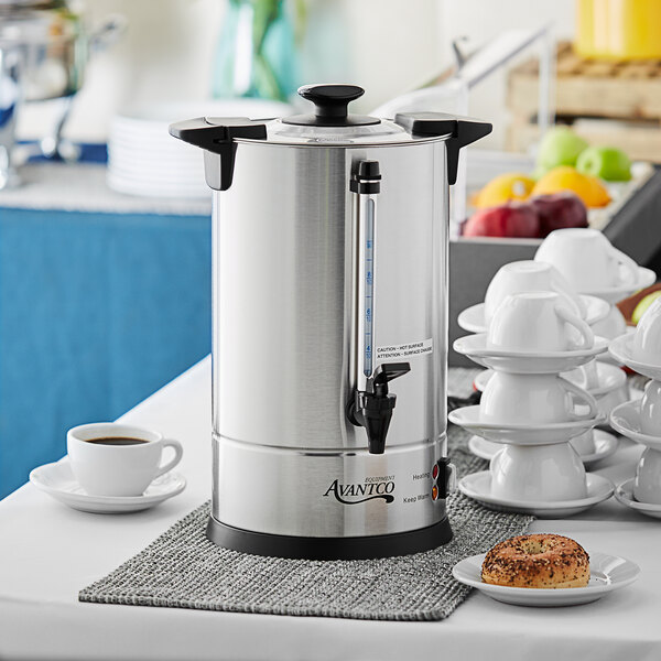 Avantco CU45ETL 45 Cup (225oz) Double Wall Stainless Steel Coffee Urn/Coffee Percolator- 950W Main Image 4