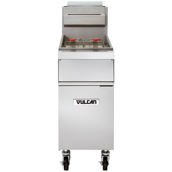Vulcan 1GR85M-1 85-90 lb. Natural Gas Floor Fryer - 150,000 BTU