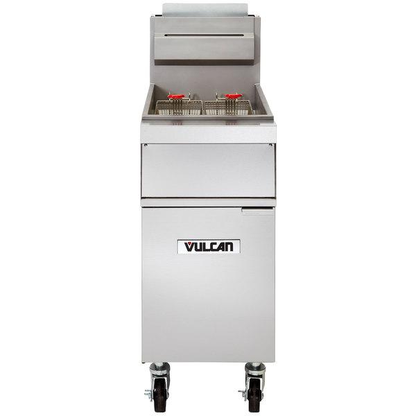 Vulcan 1GR45M-1 45-50 lb. Natural Gas Floor Fryer - 120,000 BTU