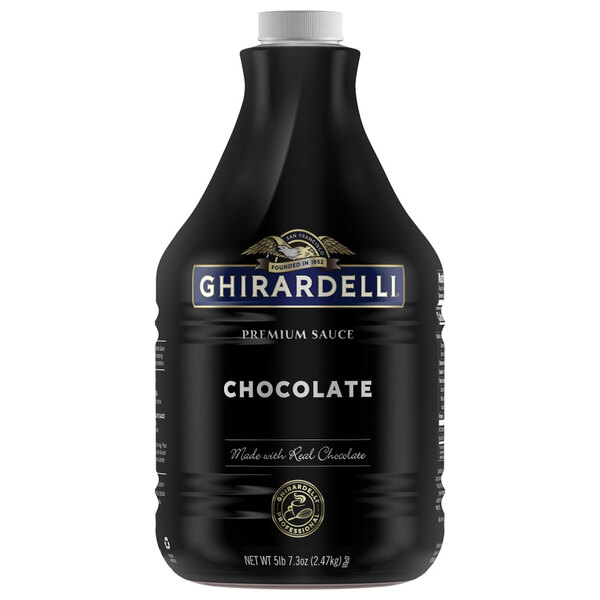 Ghirardelli 64 fl. oz. Black Label Chocolate Flavoring Sauce Main Image 1