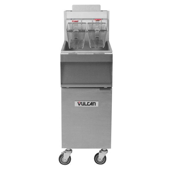Vulcan 1GR35M-2 35-40 lb. Liquid Propane Floor Fryer - 90,000 BTU