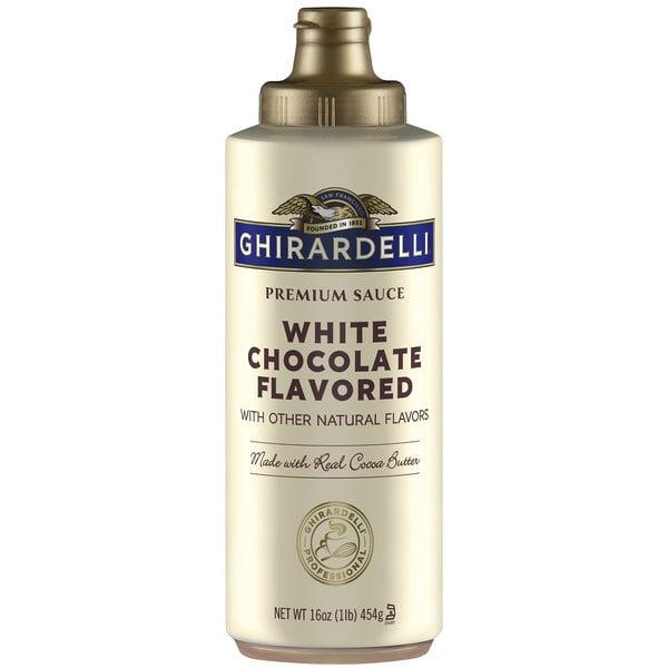 Ghirardelli 12 fl. oz. (17 oz.) White Chocolate Flavoring Sauce Main Image 1