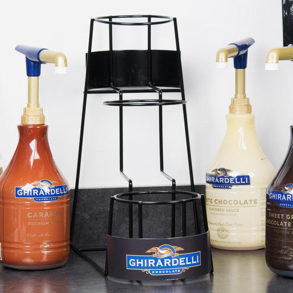 Ghirardelli 3 Tier 64 oz. Flavoring Sauce Rack Main Image 4