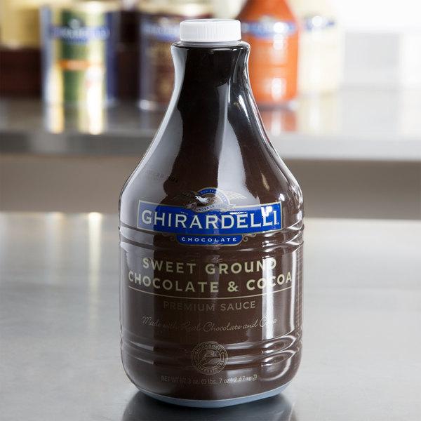 Ghirardelli 64 fl. oz. Sweet Ground Chocolate & Cocoa Flavoring Sauce