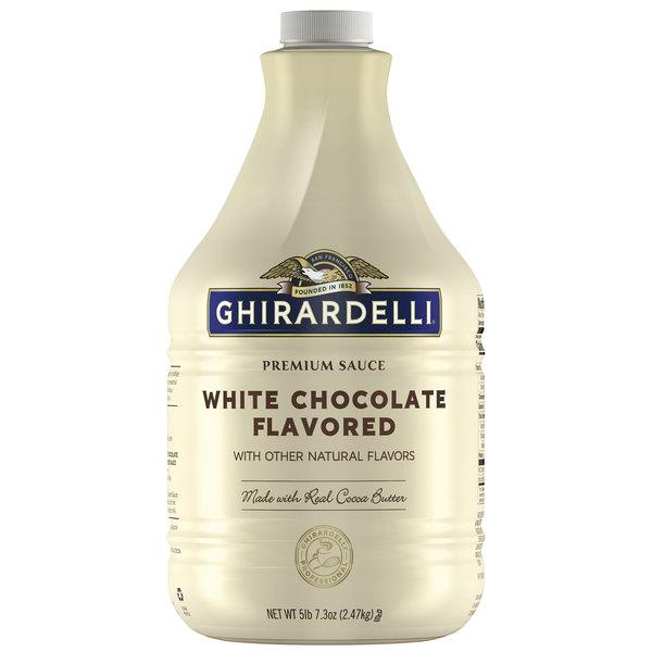 Ghirardelli 64 fl. oz. White Chocolate Flavoring Sauce Main Image 1