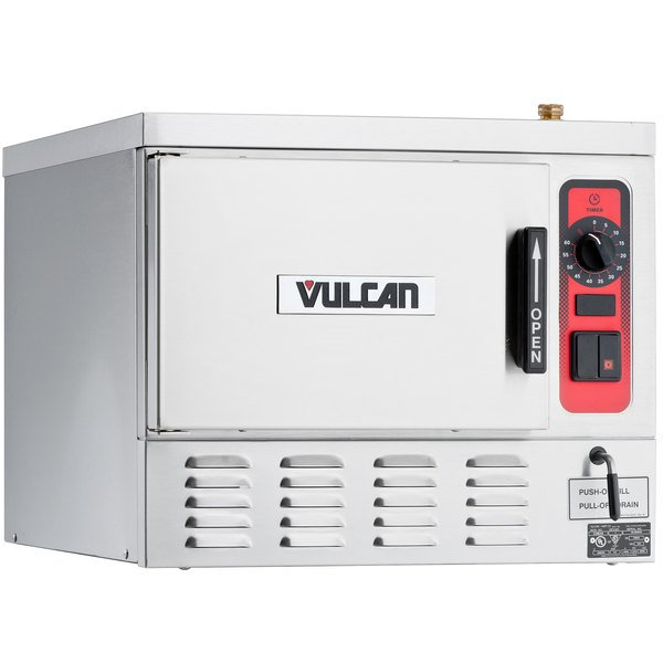 Vulcan C24EA3-1200 POWERSTEAM 3 Pan Electric Countertop Convection Steamer with Deluxe Controls - 208V, 9.25 kW Main Image 1