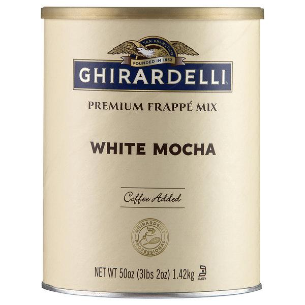 Ghirardelli 3.12 lb. White Mocha Frappe Mix Main Image 1