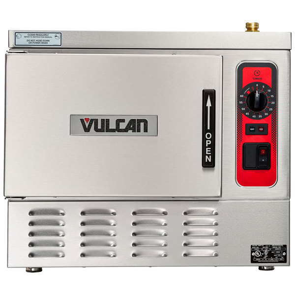 Vulcan C24EA3-1100 PLUS 3 Pan Electric Countertop Convection Steamer with Basic Controls - 208V, 8.5 kW Main Image 1