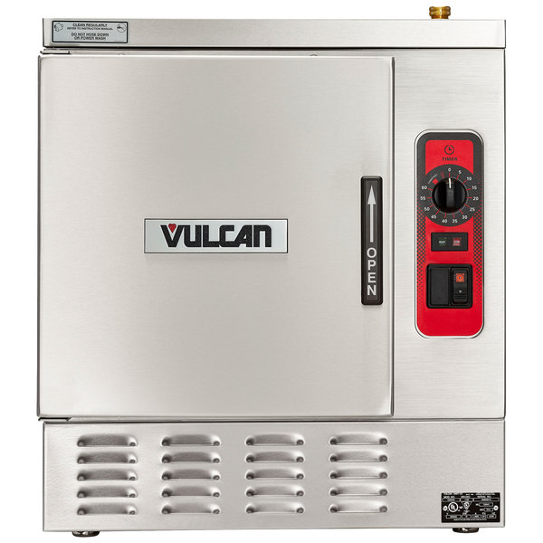 Vulcan C24EA5-1100 PLUS 5 Pan Electric Countertop Convection Steamer with Basic Controls - 208V, 15 kW Main Image 1