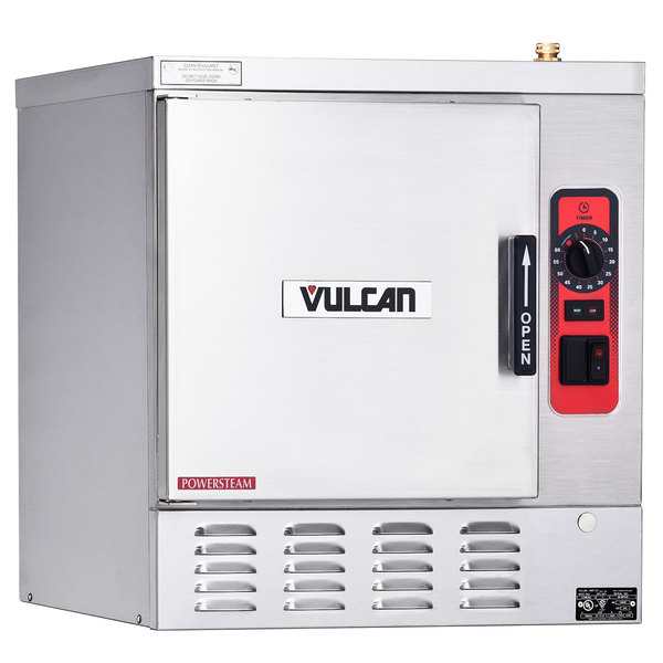 Vulcan C24EA5-1200 POWERSTEAM 5 Pan Electric Countertop Convection Steamer with Deluxe Controls - 208V, 15.75 kW Main Image 1