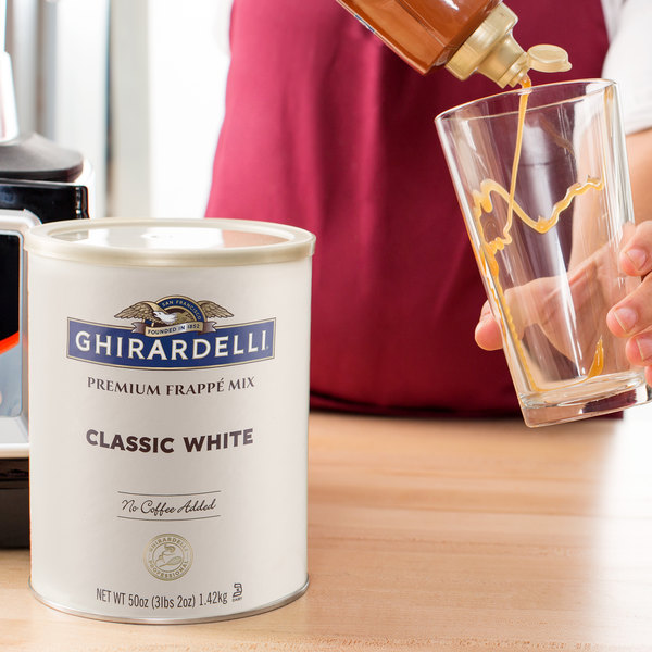 Ghirardelli 3.12 lb. Classic White Frappe Mix Main Image 2