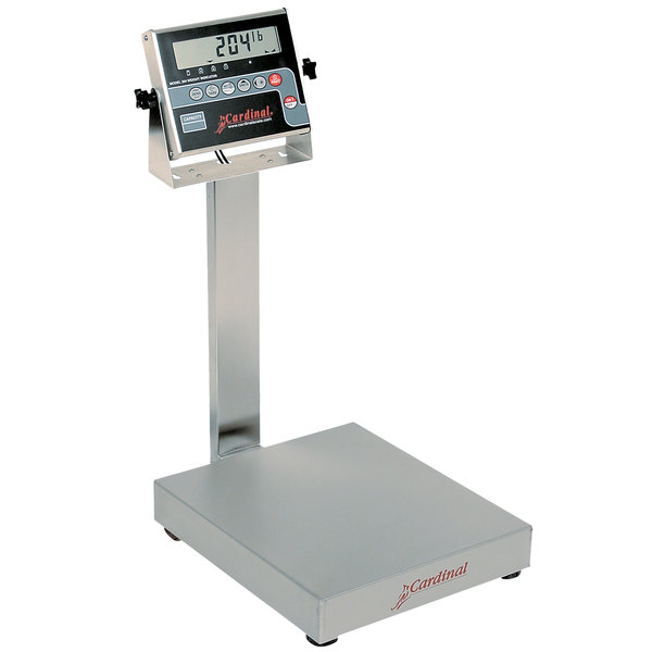 Cardinal Detecto EB-300-204 300 lb. Electronic Bench Scale with 204 Indicator and Tower Display, Legal for Trade