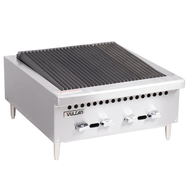 "Vulcan VCRB25-1 Natural Gas 25"" Low Profile Radiant Charbroiler - 58,000 BTU Main Image 1"