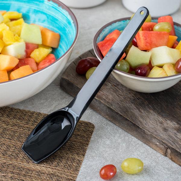 Carlisle 50903 1.3 oz. Black Salad Bar / Buffet Spoon