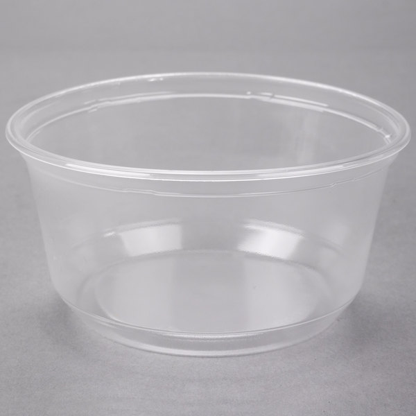 Choice 12 oz. Contact Clear Microwavable Round Plastic Deli Container - 50/Pack
