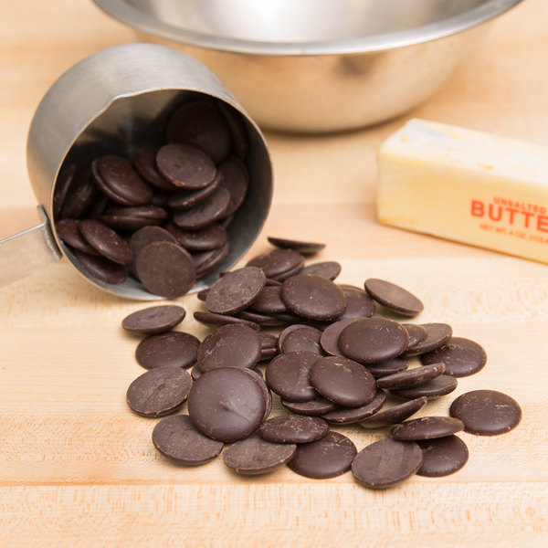 Ghirardelli 5 lb. 100% Cacao Unsweetened Chocolate Liquor Wafers Main Image 2