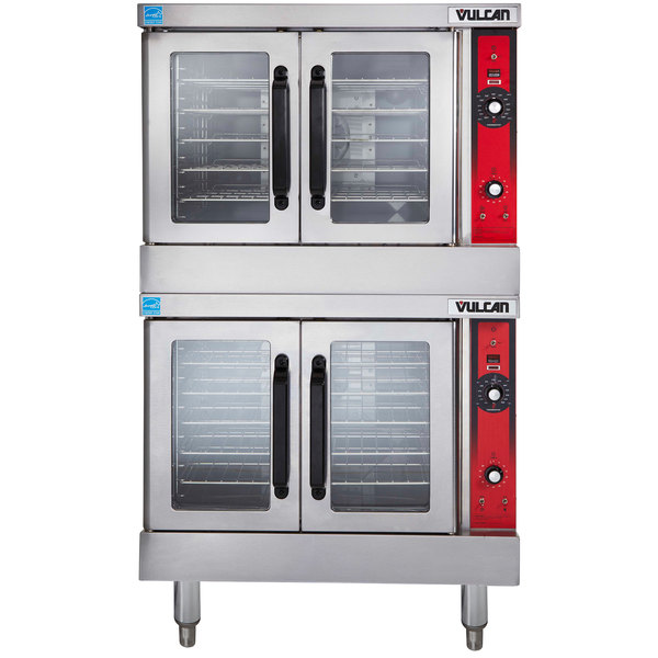 Vulcan VC33ED-208/1 Double Deck Full Size Electric Convection Oven - 208V, 1 Phase, 25 kW