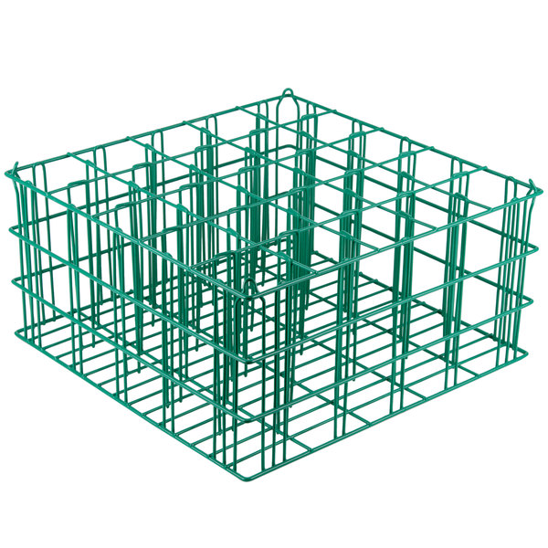 "25 Compartment Catering Glassware Basket - 3 1/2"" X 3 1/2"" X 8"" Compartments"