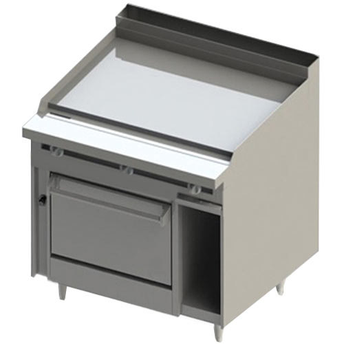 """Blodgett BR-48GT-36 48"""" Thermostatic Natural Gas Range with Griddle Top and Oven Base - 126,000 BTU Main Image 1"""