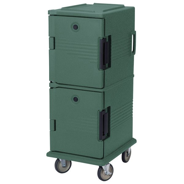 Cambro UPC800SP192 Granite Green Camcart Ultra Pan Carrier - Front Load Tamper Resistant