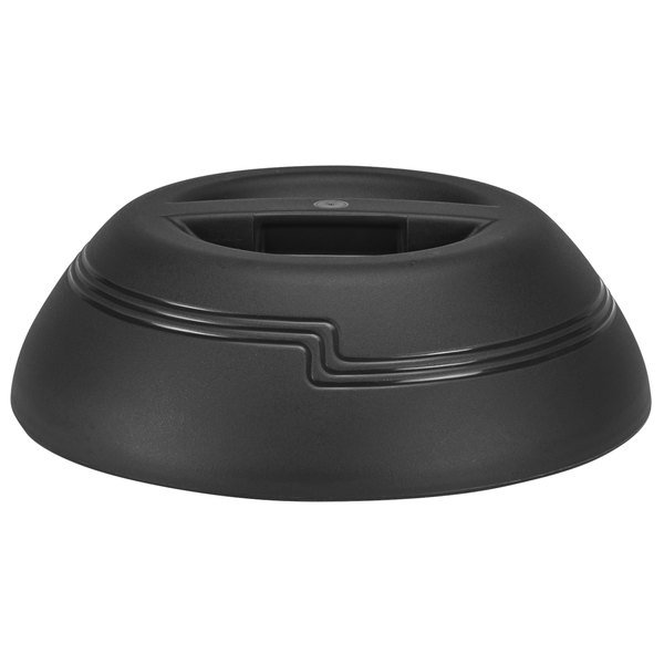 "Cambro MDSD9110 Black Insulated Dome Cover for 9"" Plate - 12/Case"