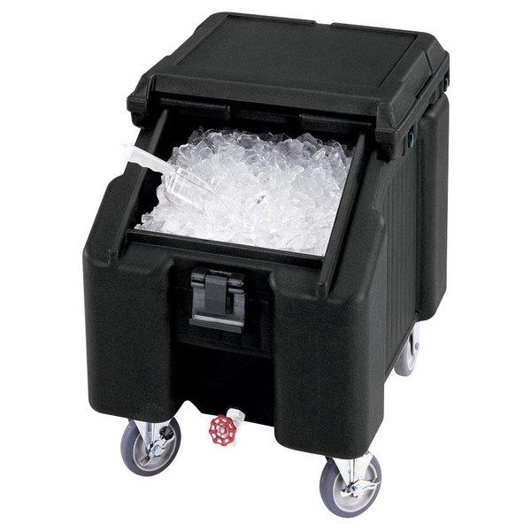 Cambro ICS100L4S110 SlidingLid™ Black Portable Ice Bin - 100 lb. Capacity