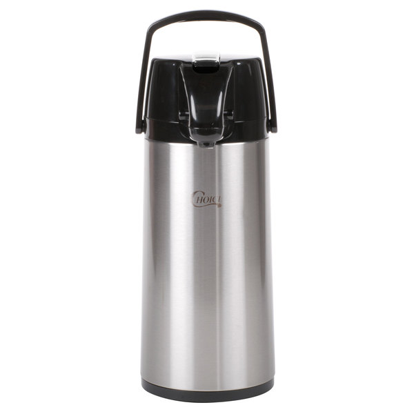 Choice 2.2 Liter Glass Lined Stainless Steel Airpot with Lever