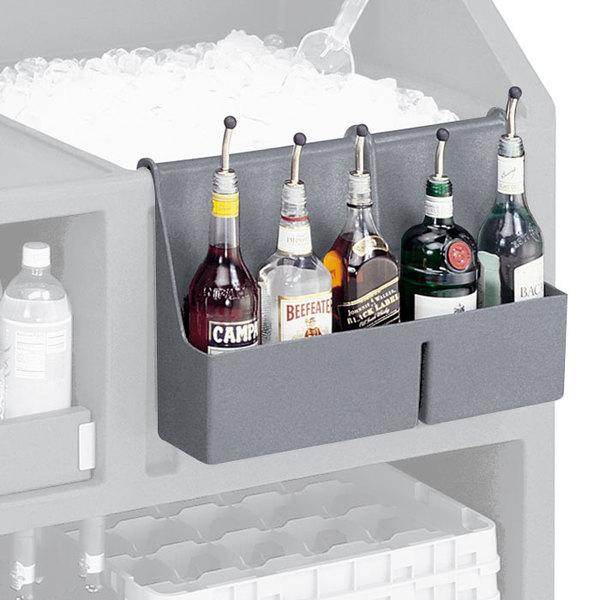 Cambro BAR54SR191 Granite Gray 5-Bottle CamBar Speed Rail Main Image 1