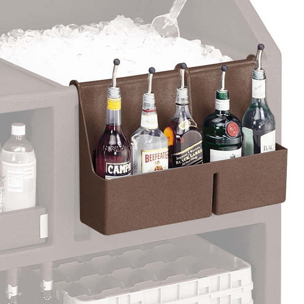 Cambro BAR54SR131 Dark Brown 5-Bottle CamBar Speed Rail