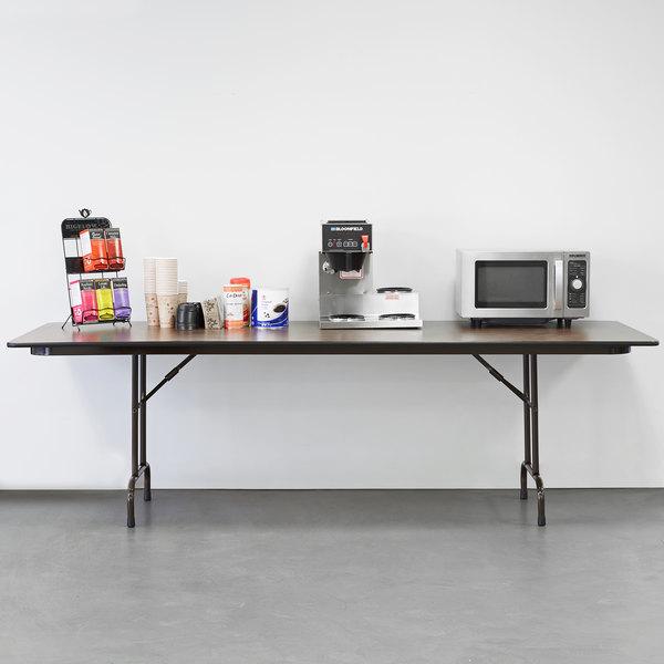 "Correll Folding Table, 36"" x 96"" Melamine Top, Walnut - CF3696M"