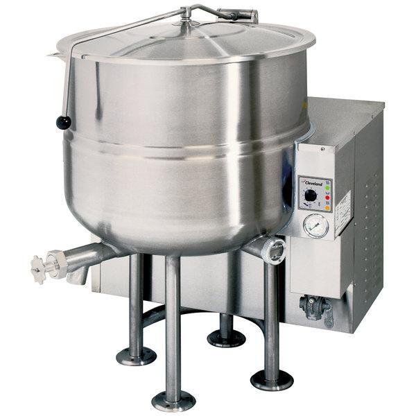 Cleveland KGL-80 Liquid Propane 80 Gallon Stationary 2/3 Steam Jacketed Kettle - 190,000 BTU Main Image 1