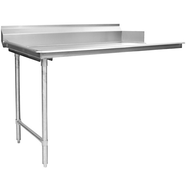 """Eagle Group CDTL-60-16/4 60"""" Left Side 16 Gauge 430 Series Stainless Steel Clean Dish Table"""